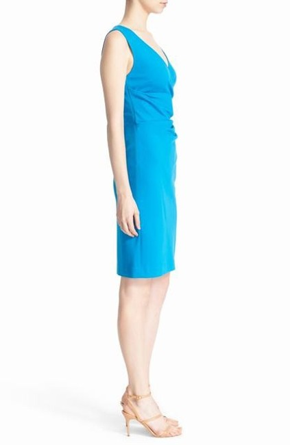 Diane von Furstenberg Ruched Sheath Knit Sleeveless V-neck Dress