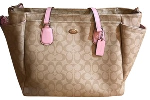 Coach tan and lavendar color Diaper Bag
