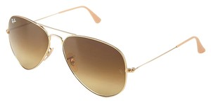 Ray-Ban NEW Ray Ban RB 3025 Large Metal Aviator Gold Brown Gradient