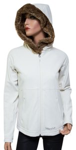 Marmot Faux Fur 90390 Hooded Stretch White Jacket