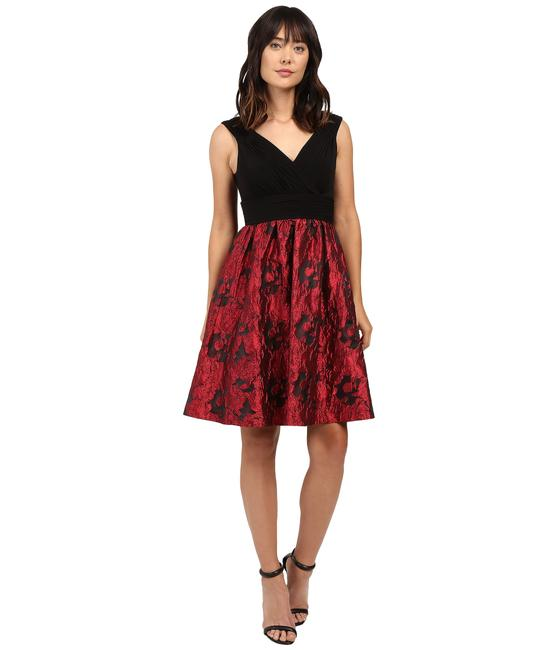 Adrianna Papell Rose Metallic Fit And Flare Dress
