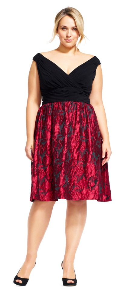 f44d326f9b Adrianna Papell Rose Metallic Fit And Flare Dress Image 10. 1234567891011