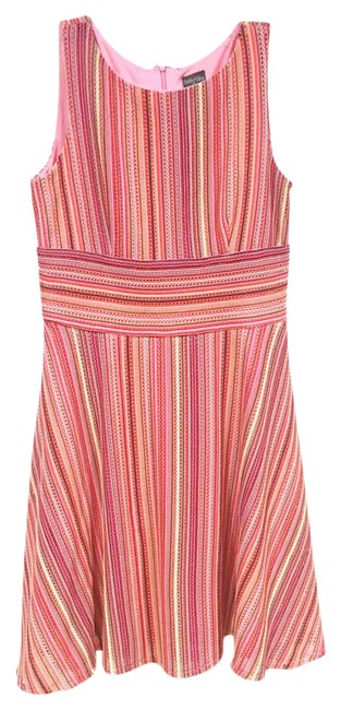 Preload https://img-static.tradesy.com/item/21025881/gabby-skye-pink-orange-yellow-green-purple-gray-striped-fit-and-flare-mid-length-cocktail-dress-size-0-1-650-650.jpg