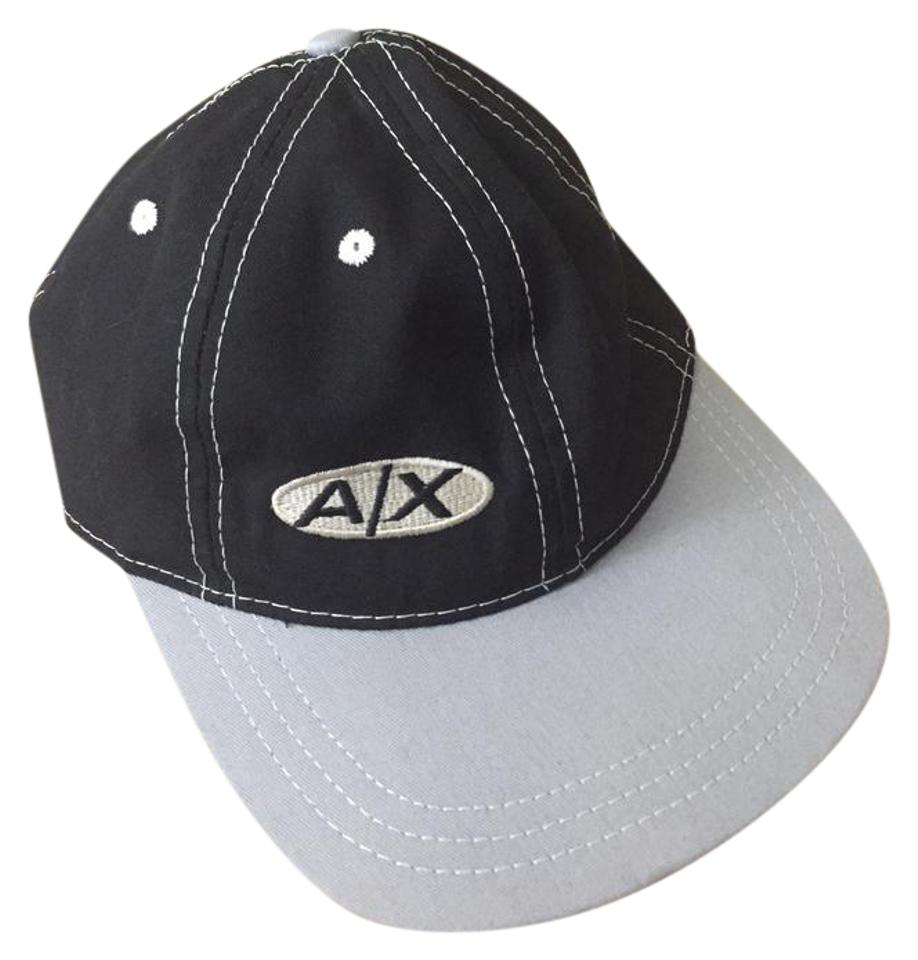 babfd21f2 A|X Armani Exchange Black and Gray Baseball Cap Hat 44% off retail