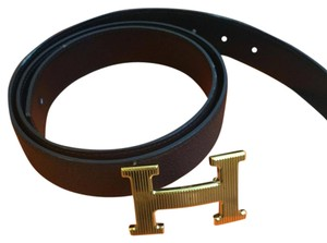 Herms Hermes H buckle Leather Belt