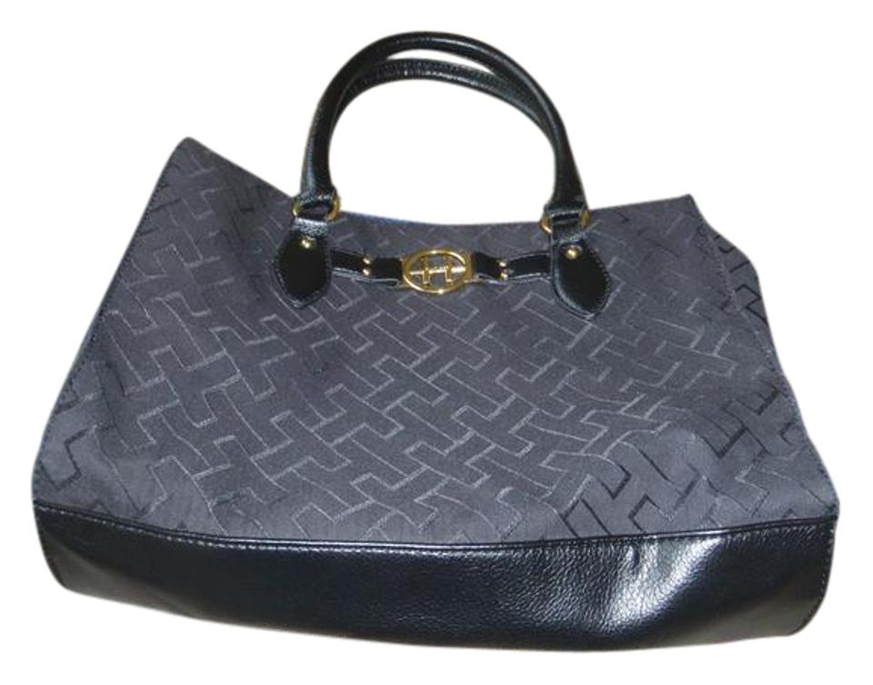 360616d9e Tommy Hilfiger Bag Bag/ Purse Black / Blue Canvas Tote - Tradesy