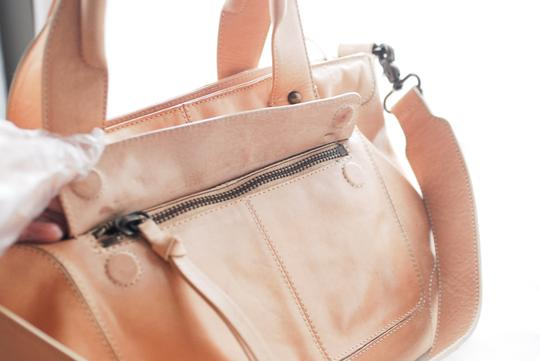 Andrew Marc Beige Argentina Satchel in Taupe