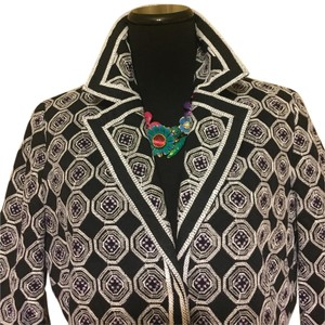 T Tahari black, white,lilac Jacket