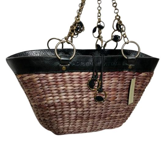 Preload https://img-static.tradesy.com/item/21026423/adrienne-vittadini-woven-and-trim-basket-strawleather-tote-0-2-540-540.jpg
