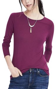 Banana Republic Casual Soft Comfortable Camisole Layering T Shirt Cranberry