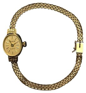 Geneve Geneve 14k Solid Gold Quartz Ladies Women's Bracelet Watch