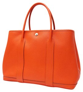 Herms Tote in Fire Orange