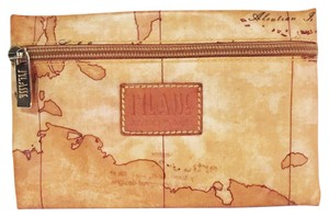 Alviero Martini rare Alviero martini 1st classe zipper pouch map design small clutch