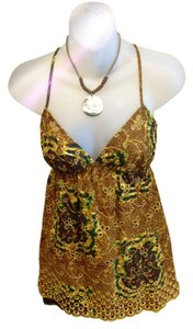 Twelfth St. by Cynthia Vincent Top Gold, brown, green, yellow and blue