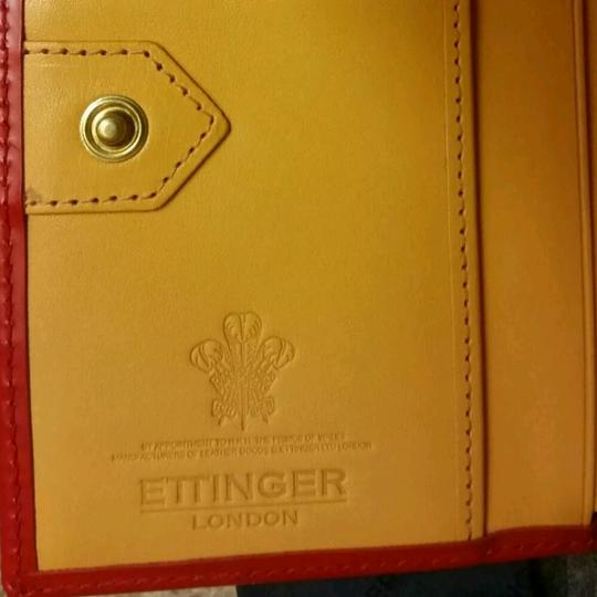 Ettinger Embellished red bridle leather 4cc purse