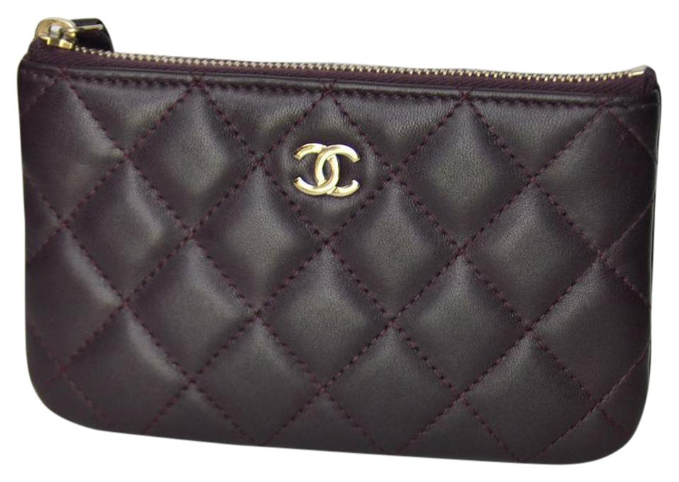 5b830d42d4 Chanel Purple Quilted Small Zip Pouch Wallet - Tradesy