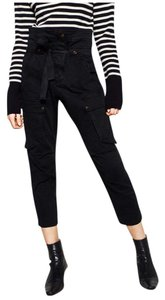 Zara Capri/Cropped Pants Black
