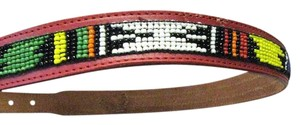 Justin Woman's Leather Belt w Beaded Design