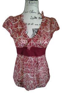 Odille Top Red and White