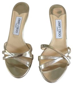 Jimmy Choo silver leather Sandals