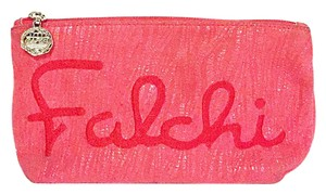 Carlos Falchi rare inspiration Emily Dickinson zipper pouch by Carlos falchi red snakeskin wallet clutch