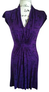 French Connection short dress Purple and Black on Tradesy