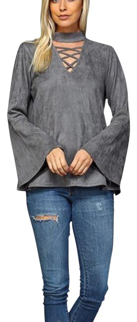 Preload https://img-static.tradesy.com/item/21027061/gray-faux-suede-light-weight-tunic-size-12-l-0-1-650-650.jpg