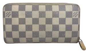 Louis Vuitton Louis Vuitton Long Wallet Portefeuille Zip Damier Azur