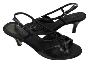 Liz Claiborne Leather 8.5m black Sandals