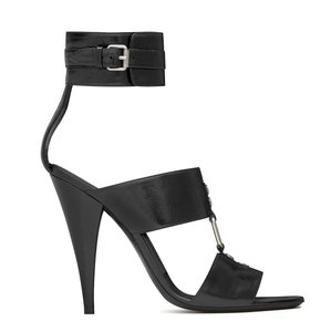 Saint Laurent Ankle Strap Hills Ysl Black Sandals