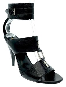 Saint Laurent Ankle Strap Hills Black Sandals