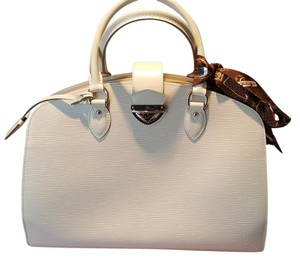 Louis Vuitton Epi Leather Free Silk Lv Bandeau Box Dust Satchel in Ivory