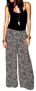 Show Me Your Mumu Classic Bohemian Wide Leg Cheetah Leopard Effortless Classic Chic Flare Pants Brown