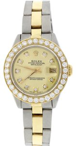 Rolex Rolex Datejust Ladies 2-Tone 26MM Oyster w/Diamond Dial & Bezel
