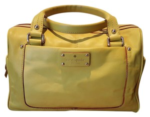 Kate Spade Leather New Dust Satchel in Chartreuse