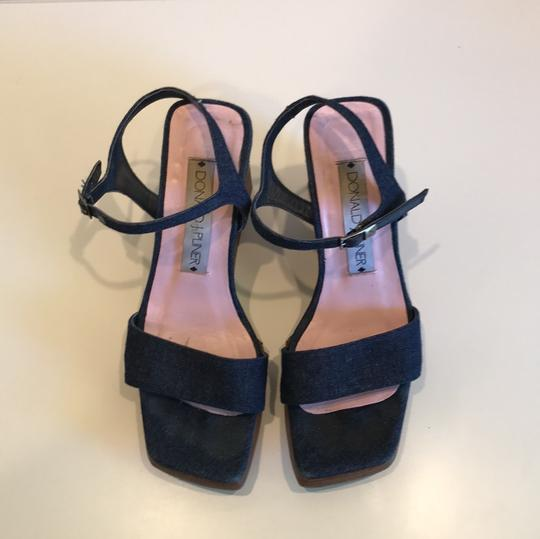 Donald J. Pliner denim Wedges
