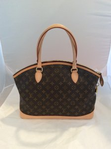 Louis Vuitton Horizontal Lockit Tote in Brown