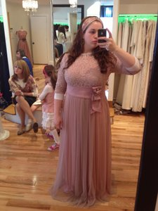 Blush Pink Blush Empire Gown Dress