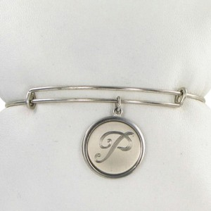 Alex and Ani PC13B129PS Initial P Expandable Bracelet Sterling Silver Charm