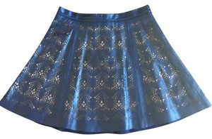 Parker Mini Skirt Dark blue with intricate cut-out design detail