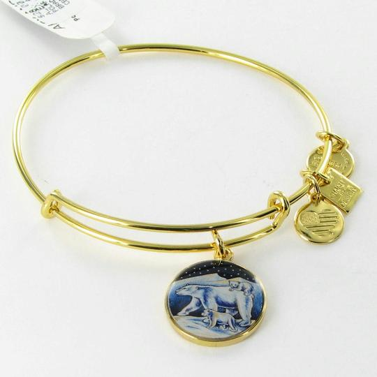 Alex and Ani CBD15PBYG Polar Bears Assoc Zoos & Aquariums Expandable EWB Bracelet