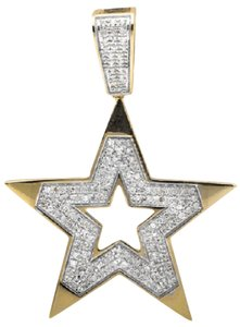 Other 10K Yellow Gold Five Point Star Diamond Pendant Charm 0.75ct