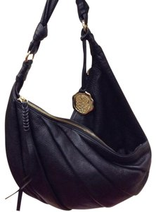 Vince Camuto Leather Pebbled Pleated Hobo Bag