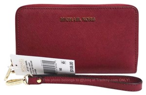 Michael Kors NWT Gorgeous MK Saffiano Leather Large Phone Case Wristlet Wallet