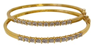 Technibond Technibond Diamond Accented Hinged Bracelet Set