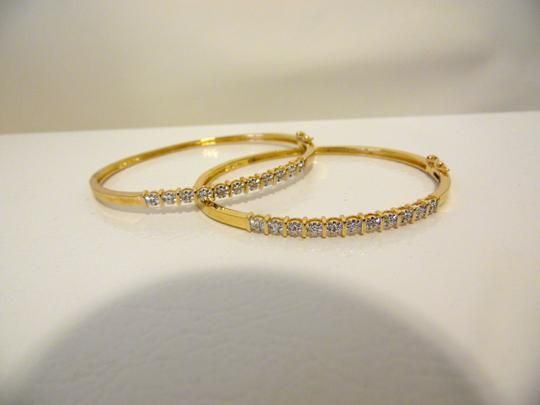 Technibond Technibond Crystal Accented Hinged Bracelet Set