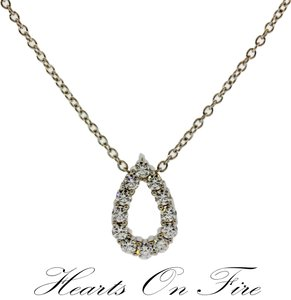 Hearts On Fire Hearts On Fire .35ct Diamond Whimsical Mini Pear Necklace In 18k White