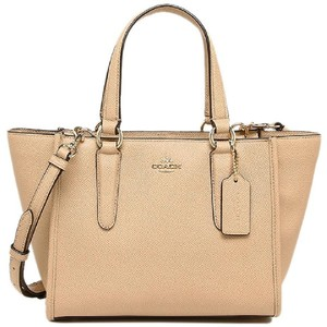 Coach Crossbody Crossgrain Leather 33996 Satchel in Nude