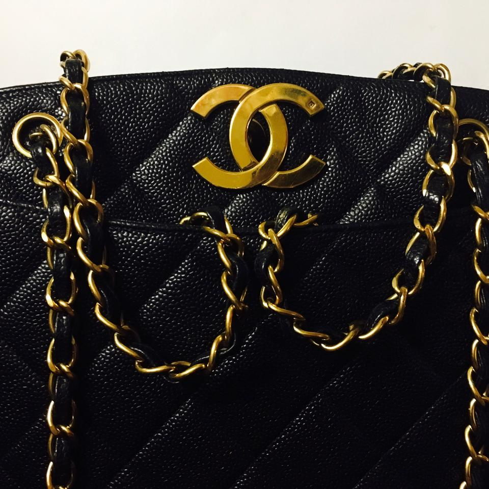 a8947bae51ad Chanel Shoulder Bag Vintage Caviar Quilted Jumbo Cc Shopper Tote - Tradesy
