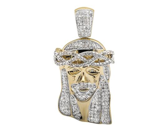 Other 10K Yellow Gold Jesus Face Piece 1.5 Inch Diamond Pendant Charm 1.0ct
